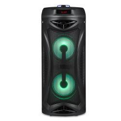 Venda a quente exterior dupla portátil de colunas sem fios do alto-falante Bluetooth Bateria de longa duração com Mic (6,5 cabeça) Função microfone