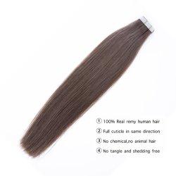 Extensão de cabelo humano de fita cola mulheres Remy pedaço de pele sem trama dupla invisível #613 Lixívia loira Cabelos Virgens