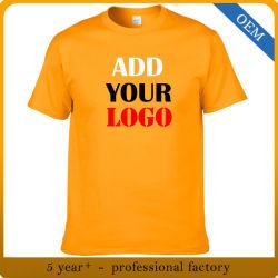 선전용 인쇄 t-셔츠를 광고하는 도매 남자 싼 면 또는 폴리에스테