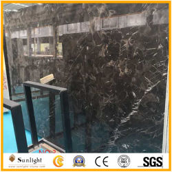 La Chine Emperador foncé ciré marron de dalles de marbre marron