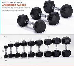 Mancuernas Free Gewichte Commercial Home Gym Fitness-Ausrüstung Gummi Ummantelt Hex-Hanteln Mit Sechskant