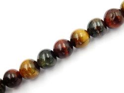 Semiprecious Mix-Color Tiger yeux pierre gemme ronde Perles de 4-12mm