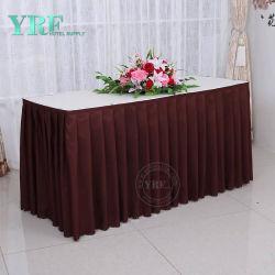 Impressão personalizada materiais PEVA Arrepiados Saias Mesa toalha plástica rodapé
