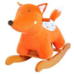 De houten Schommelende Gift van het Stuk speelgoed van de Jonge geitjes van het Stuk speelgoed van de Kinderen van het Speelgoed van het Paard van de dierlijk-Vos