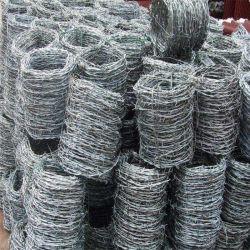 Doble torsión alambre de hierro con púas de seguridad de la línea de dos cables juntos espinas