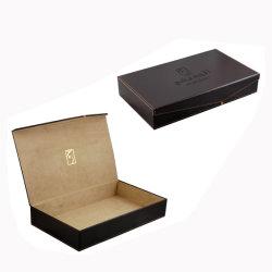 Hademade schwarzer lederner Verpackungs-Kasten-Tee-Ablagekasten (5539)