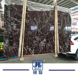 Natürlicher SteinRosso/Rosa-Levanto purpurroter Farben-Marmor für Projekte, verteilend, Fußboden-Fliese, Rand, Wand-Umsäumen und formen