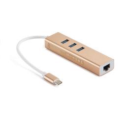 携帯電話充満のためのRJ45ギガビットのイーサネットアダプターが付いているC USB 3.0のハブをタイプしなさい