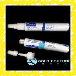 Paquete de tubo farmacéutica de salud de la piel de aluminio plegables de Paquete de tubo de crema para pieles sensibles Tratamiento/ D25mm, 30g con tapón de rosca de plástico
