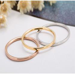 Juwelen van de Ring van de Juwelen van de Charme van het modieuze van de Eenvoud Staal van het Titanium de Materiële