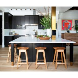 China Fabricante Bespoke Americano móveis domésticos Rta cozinha de madeira agitador de gabinete