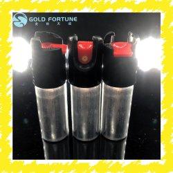 L'aerosol di alluminio può con la valvola di conteggio per spray al pepe rosso
