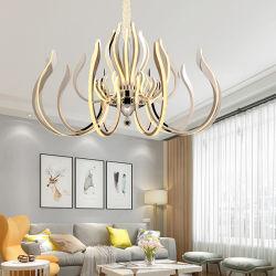 15 إنارة بقوة 300 واط إضاءة من الفولاذ المقاوم للصدأ K9 Crystal Acrylic Morden Hotel الثريا بغرفة معيشة