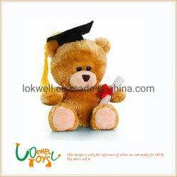 Les jouets en peluche personnalisé farci aux étudiants de l'ours en peluche cadeau de graduation