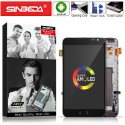 """5.3""""Sinbeda Amoled pour Samsung Galaxy Note N7000 Withframe Affichage LCD à écran tactile pour Samsung I9220 LCD Note Note 1 L'écran LCD N7000@"""