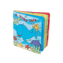 Fertigung-überzogene erste Plastikwörter pädagogisches ABC bezeichnet Großhandels-EVA-Belüftung-Baby-Bad-Buch mit Buchstaben