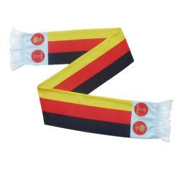 Tela e impressão de transferência de lenço de ventilador 180gsm Spandex Toalhetes tricotados em poliéster
