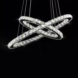 El Lujo De Lujo moderno LED lámpara de araña de cristal colgante