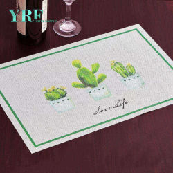 Yrf ha personalizzato l'insieme di pranzo fine termoresistente elegante della porcellana di Placemat del panno della Tabella di alta qualità