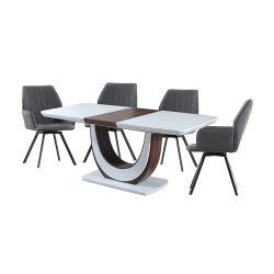 Table à manger moderne set / Table à manger Blanc Set / Table à manger extensible Set / Home Meubles Meubles Set / Ensemble de salle à manger / salle à manger Meubles / Salle à manger ensemble