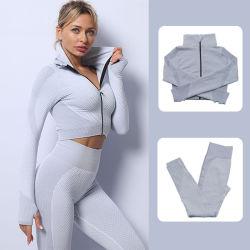 卸売販売は継ぎ目がないヨガのスーツの女性の適性の衣服 Sportswear のヨガ ジムウェアを着用してください