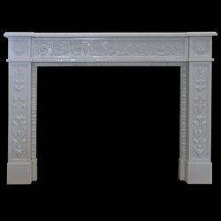 Pedra natural lareira de granito branco SF-F-006 para decoração de interiores