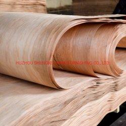 合板の家具のための自然な回転式切断Okoumeの表面木製のベニヤ