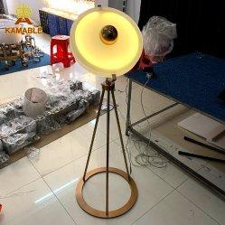 Luxury Design especial cor dourada qualidade decorativa Office LED redondos candeeiro de pé (LT-11)