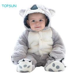 ملابس ذات بدلة ثلج للرضع الشتوية ملابس ذات الدب الطفل ملابس من الصوف ملابس ملابس ملابس بدلة ملابس مع أذنين