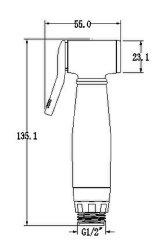 Doucheset met sproeipistool Bidet Toilet accessoire ABS Chrome White