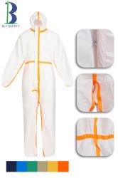 普及した新しい設計されていた卸し売りカスタマイズされた高品質PP+PEの使い捨て可能な防護衣のヘルスケアの使用の医療