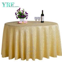 Doek van de Ronde Lijst van de Bekleding van de Polyester van het Banket van het Huwelijk van Yrf de Buitensporige