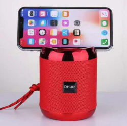 Mini-volume alto-falante Bluetooth com a função de suporte de telemóvel