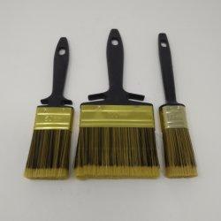 3 pcs Set Filaments synthétiques brosse de peinture avec poignée en plastique