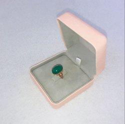 リングのための結婚のピンクの宝石類のビロードの包装のギフト用の箱