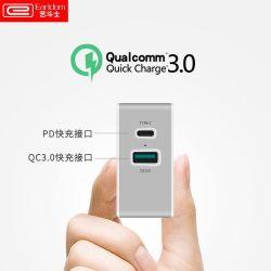 Оригинал Earldom Pd зарядное устройство 36W телефон Dual USB 3.0 QC быстро дорожное зарядное устройство адаптер