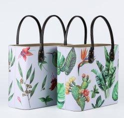Elegante casa Retro Couro Caçamba Elevada de bolsas de grandes dimensões pode ser personalizado Multi-Function Dom cesto de compras