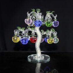 ホーム装飾のための18個のりんごのクラフトが付いている卸し売り水晶りんごの木