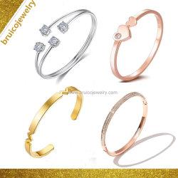Goldrosen-Farben-Armband-Silber-Schmucksache-Armband der Form-Diamant-Schmucksache-18K 14K 9K