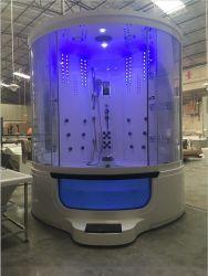 ドアのジャクージの渦(Y842A)が付いているガラス蒸気のシャワー室のWoma 2人の浴室