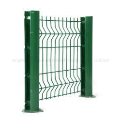 Commerce de gros 3D en PVC soudé de courbe de fer enduit de poudre de Wire Mesh Jardin panneau en fer forgé la protection de clôture