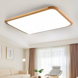 Eenvoudige gebogen houten plafondverlichting voor binnenverlichting Lamp (WH-WA-08)