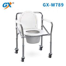 El bastidor de acero resistente asiento plegable cómoda con cuatro ruedas para ancianos Pepole