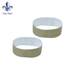 Commerce de gros logo personnalisé en blanc pour partie Tyvek bracelet