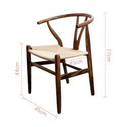 Presidenza naturale di legno del lato della cenere del faggio della noce del cavo di carta alla moda di Wishbone Y