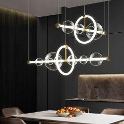 Criativa moderna arte casa decorar a faixa de LED bolhas de vidro luzes haste pendente