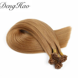 Aucune effusion enchevêtrement naturel humain chinois gratuit U/clou/cheveux à embout plat