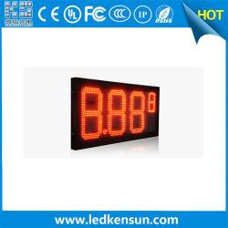 شاشة LED Gas Price Display 12inch 8.88 9 for Gas (شاشة سعر الغاز LED) إشارة LED لأسعار الغاز في المحطة