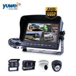 Retrovisor Car Kit da câmara com 7 polegadas Monitor Quad-View Ahd 960p
