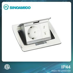 Toma de corriente de alta calidad de resina de cuadro de piso de la toma de escritorio